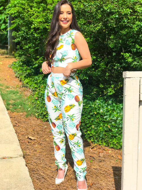 Pineapples and Pageantry Bottoms - The Flawless Babe Boutique