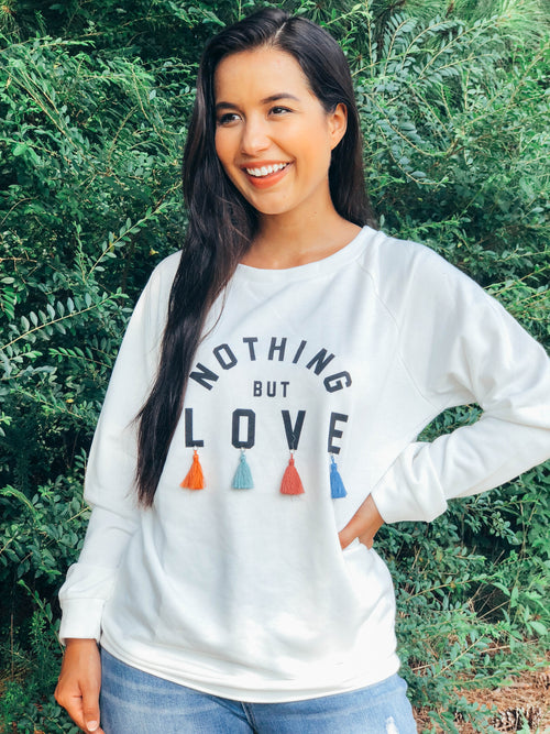 Nothing But Love Tassel Sweater