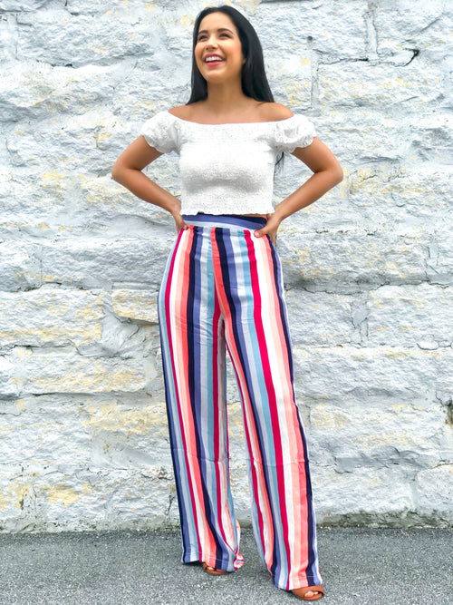 Summertime Chic Multi-Colored Flares - The Flawless Babe Boutique