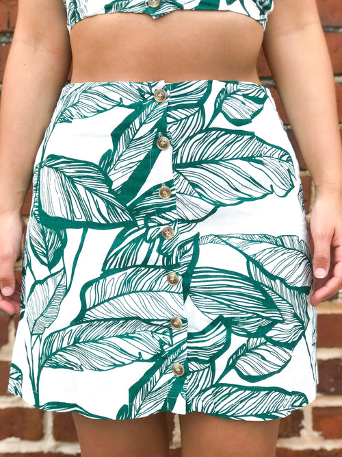 Under The Palms Skirt - The Flawless Babe Boutique