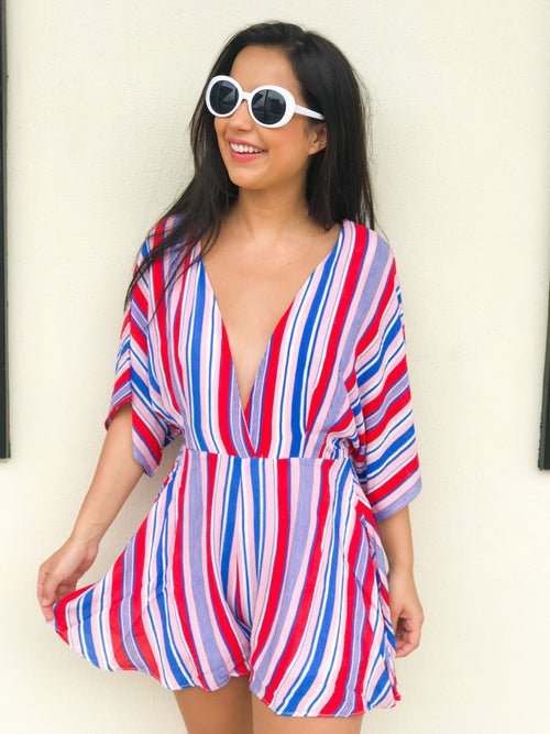 Patriotic Party Romper - The Flawless Babe Boutique