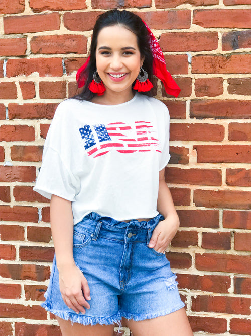 American Dreams Crop Top - The Flawless Babe Boutique