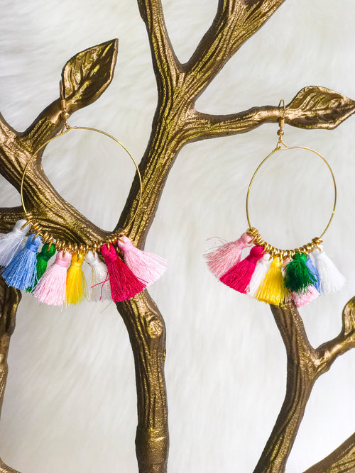 Rainbow Tassels Earrings - The Flawless Babe Boutique