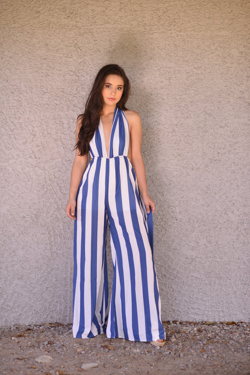 Cotton Candy Stripe Jumpsuit