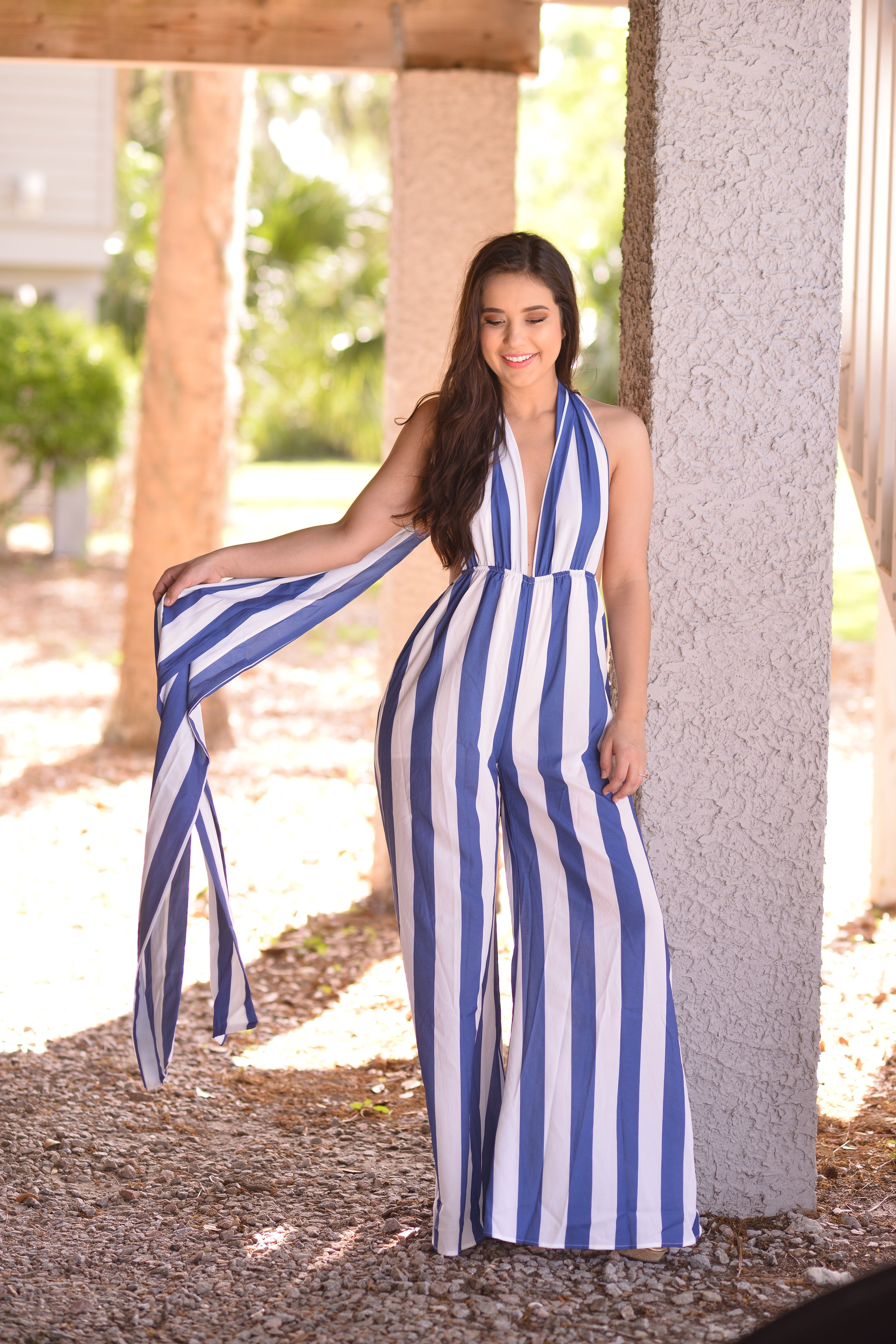 Cotton Candy Stripe Jumpsuit - The Flawless Babe Boutique