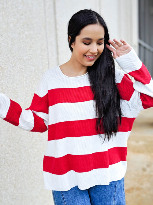 Bold And Bright Striped Sweater - The Flawless Babe Boutique