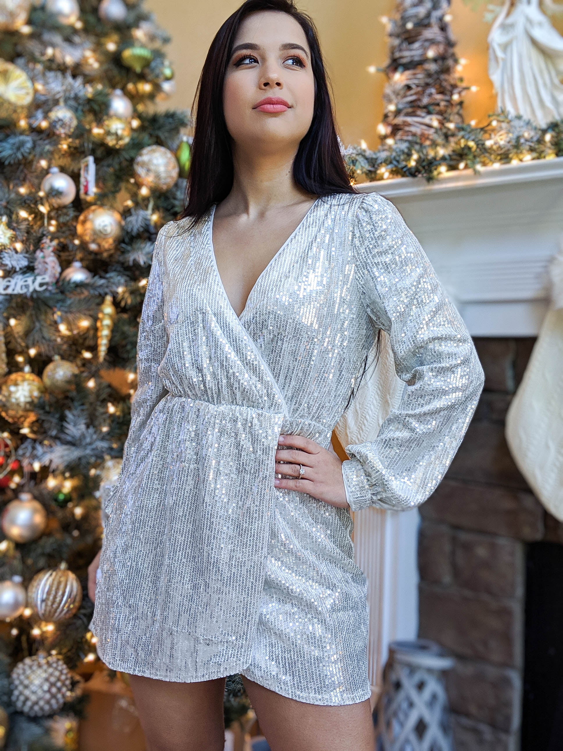 All I Want For Christmas Is You Sequins Dress