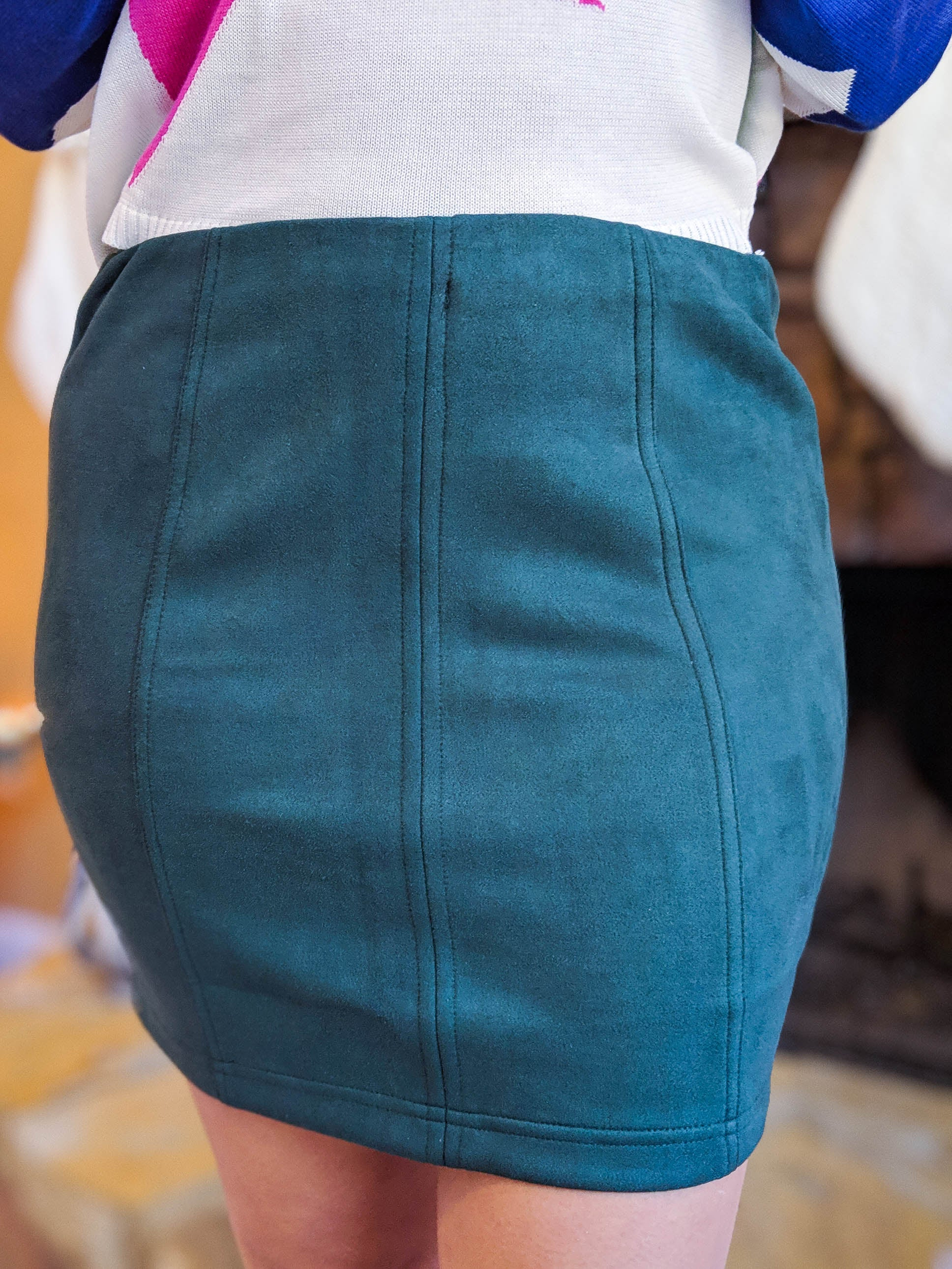 Center Of Attention Suede Skirt