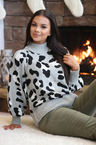 Cool Fall Nights Turtleneck Cropped Knit Sweater