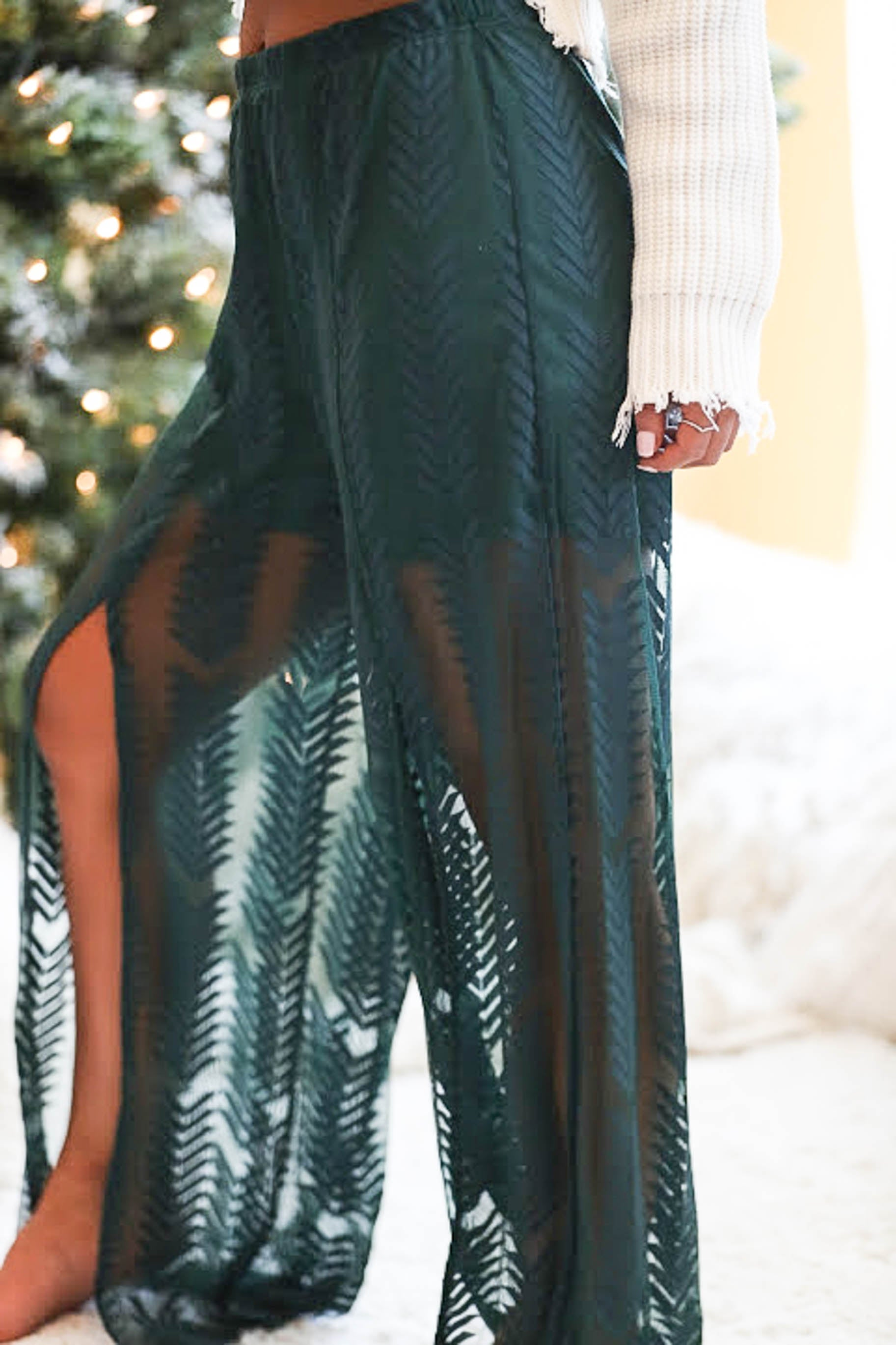 Falling Leaves Mesh Pants - The Flawless Babe Boutique