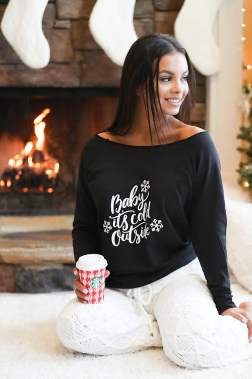 Baby It's Cold Outside Sweater - The Flawless Babe Boutique