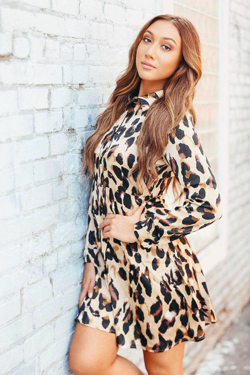Bold Never Boring Leopard Button Up Dress - The Flawless Babe Boutique