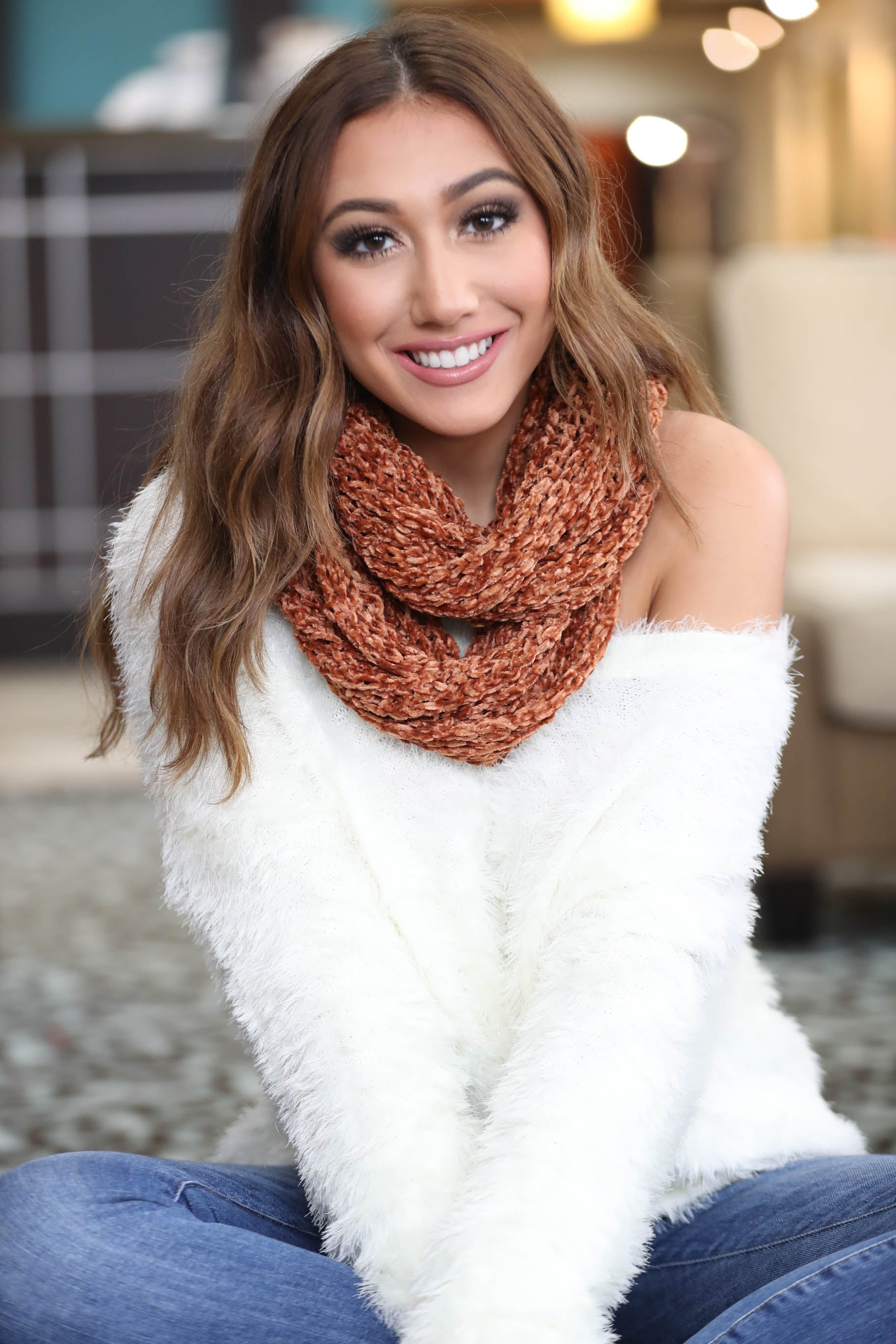 So Thankful Chenille Infiniti Scarf - The Flawless Babe Boutique