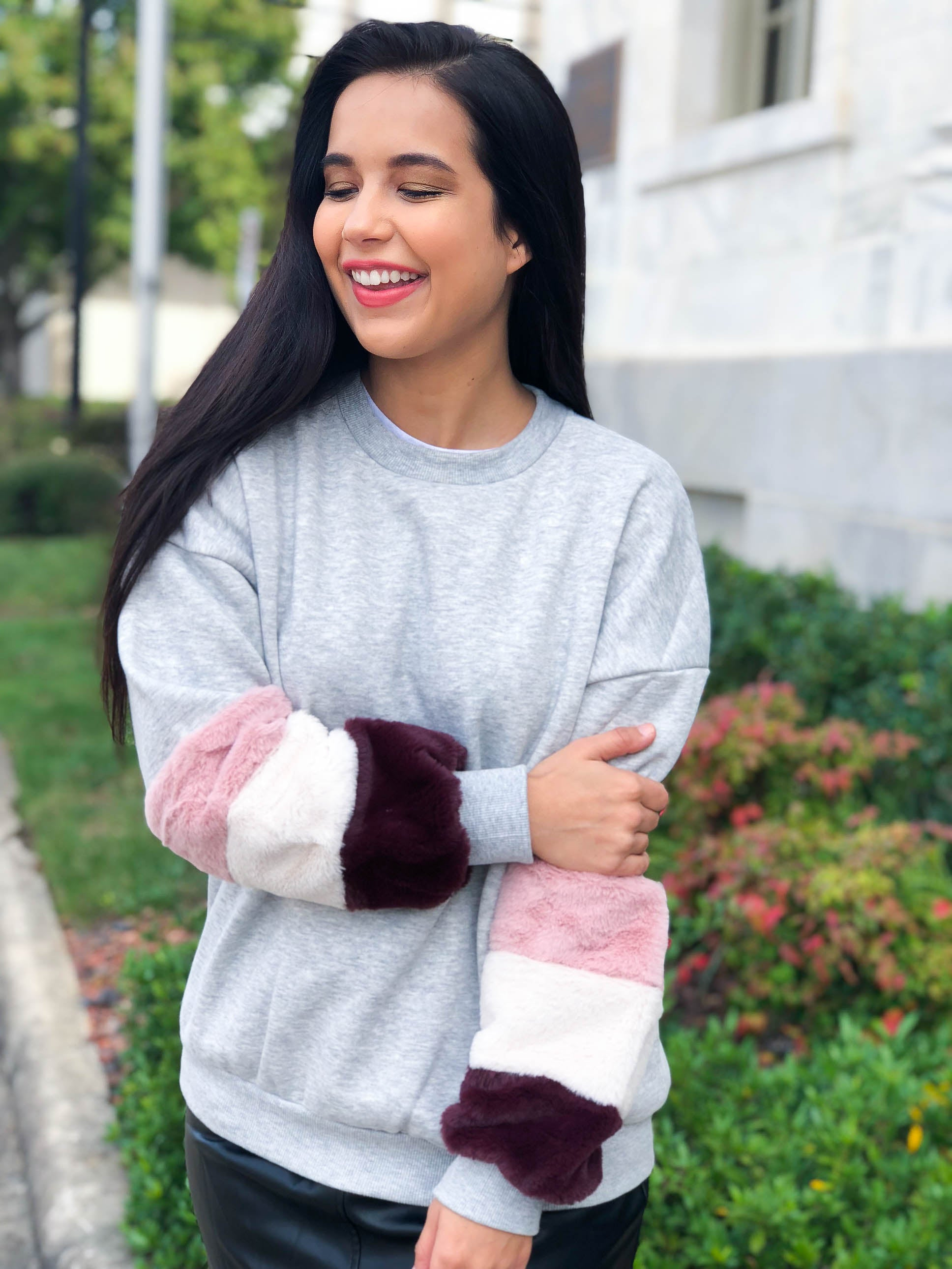 Cranberries and Cookies Fur Trimmed Sweater - The Flawless Babe Boutique