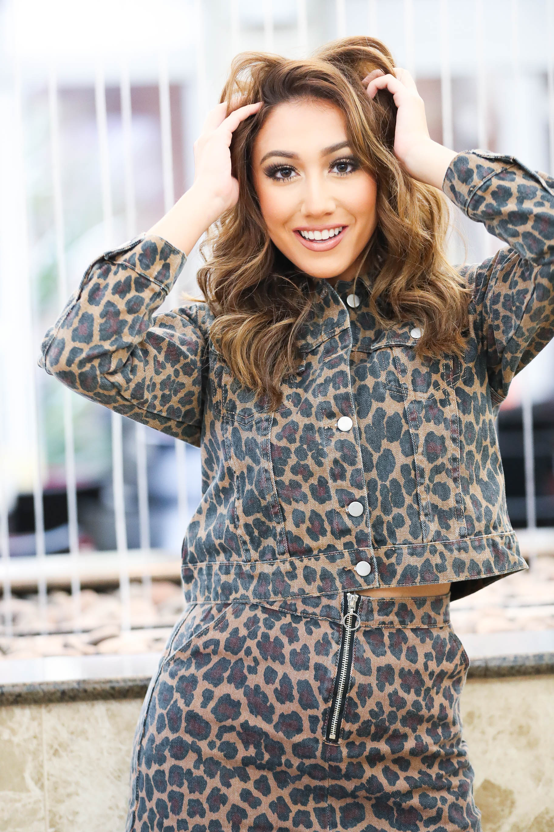 Cheetah Sister Denim Jacket - The Flawless Babe Boutique