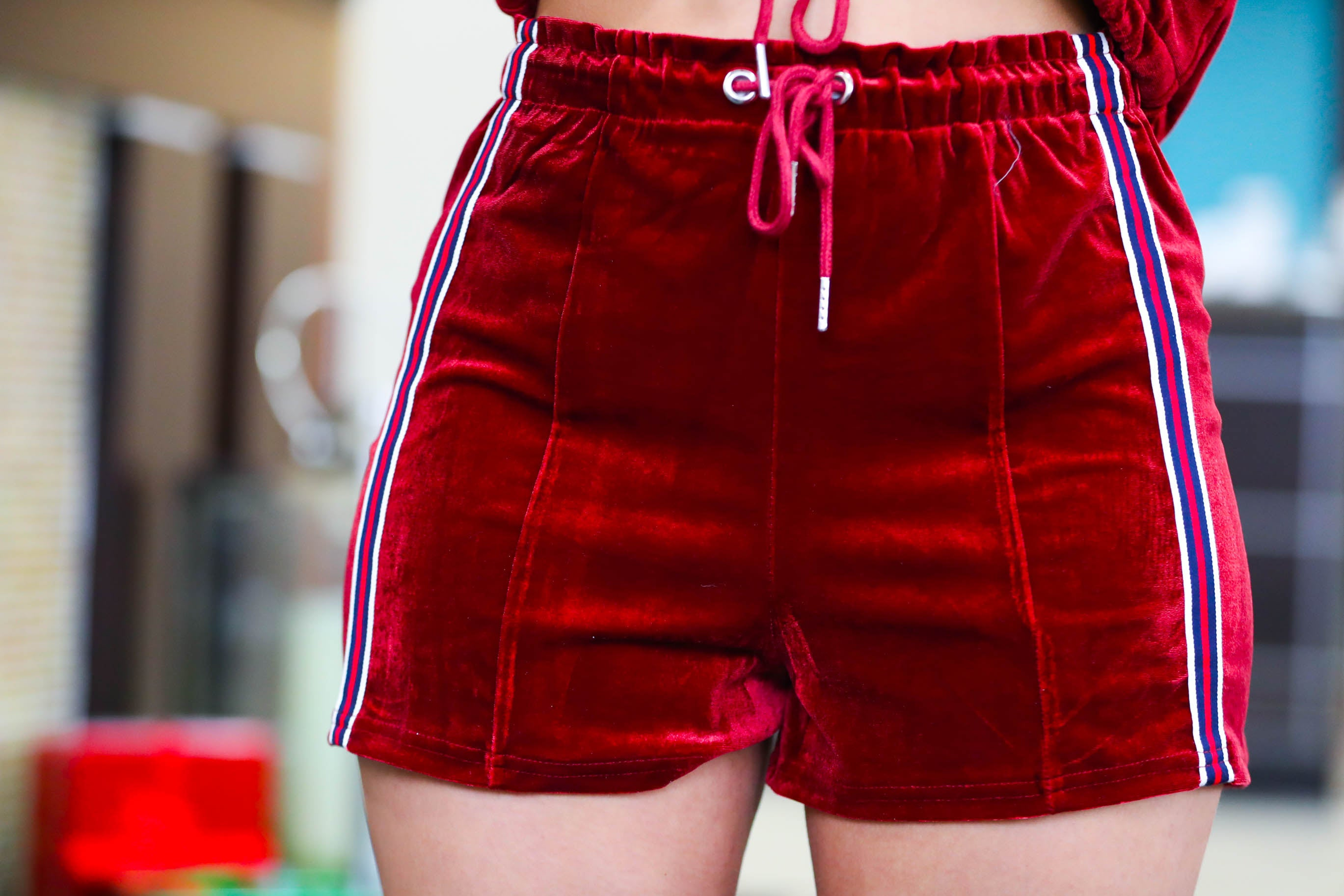 Red Velvet Cake Shorts Set