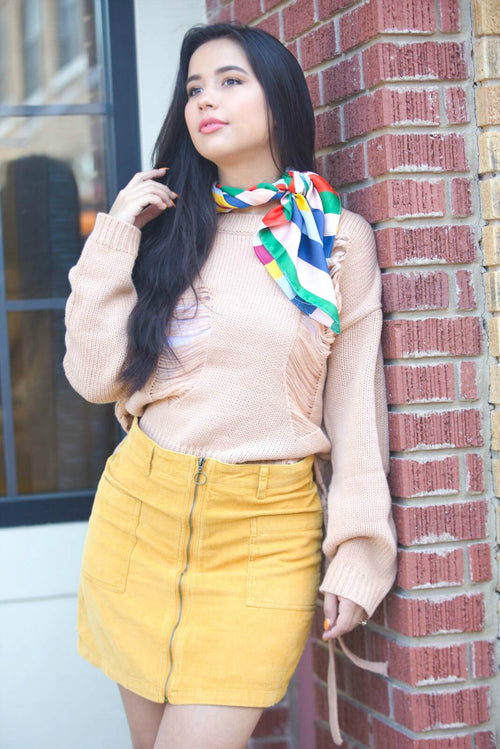 Mustard Muse Zip-Up Skirt - The Flawless Babe Boutique