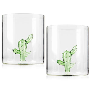 Set of 2 - Cactus Margarita Glass | 16oz - Popcheeks