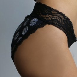 Black Kisses Lace Bikini - Popcheeks Printed Undies