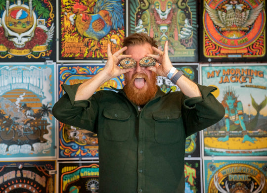 Artist Matt Leunig and his Wall of Posters