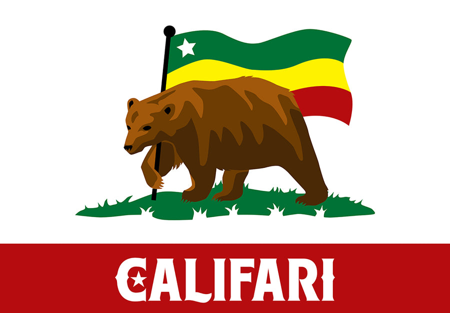 Flag Bear Sticker