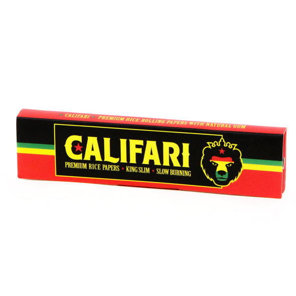 Califari King Slim Rolling Rice Papers – 1 Pack
