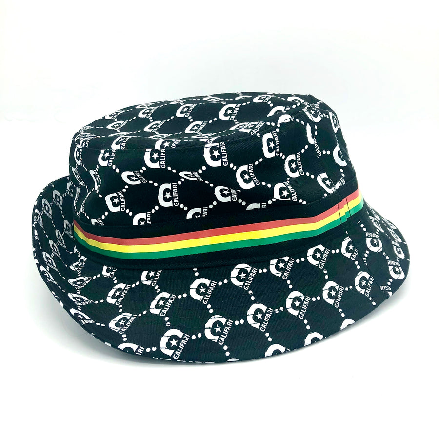 Califari Black Bucket Hat