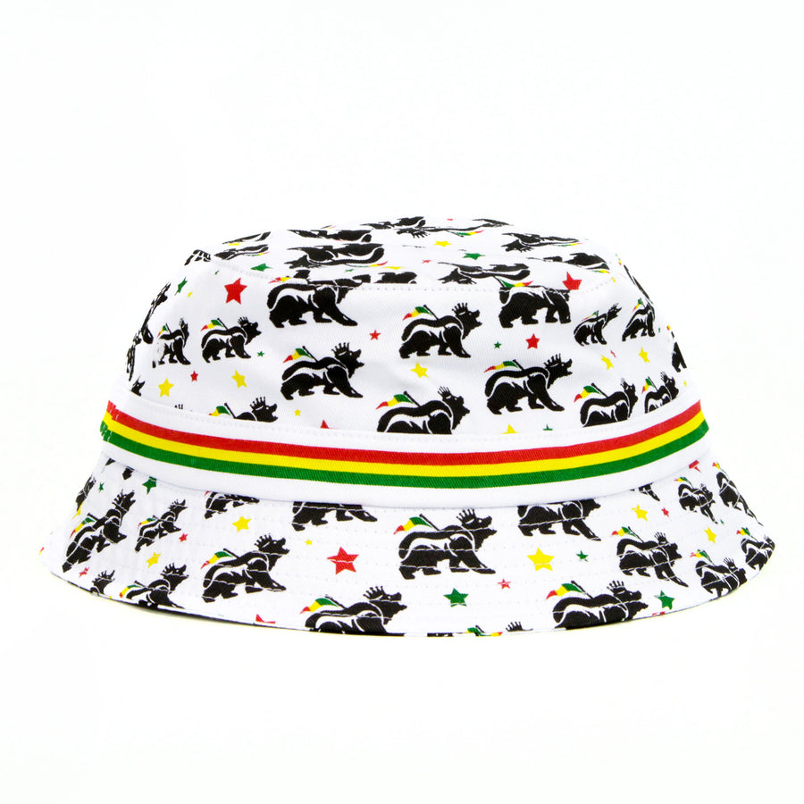 King Rasta Bear Bucket Hat