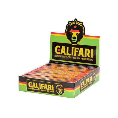 Califari King Slim Rolling Hemp Papers – 25 pack Dispenser
