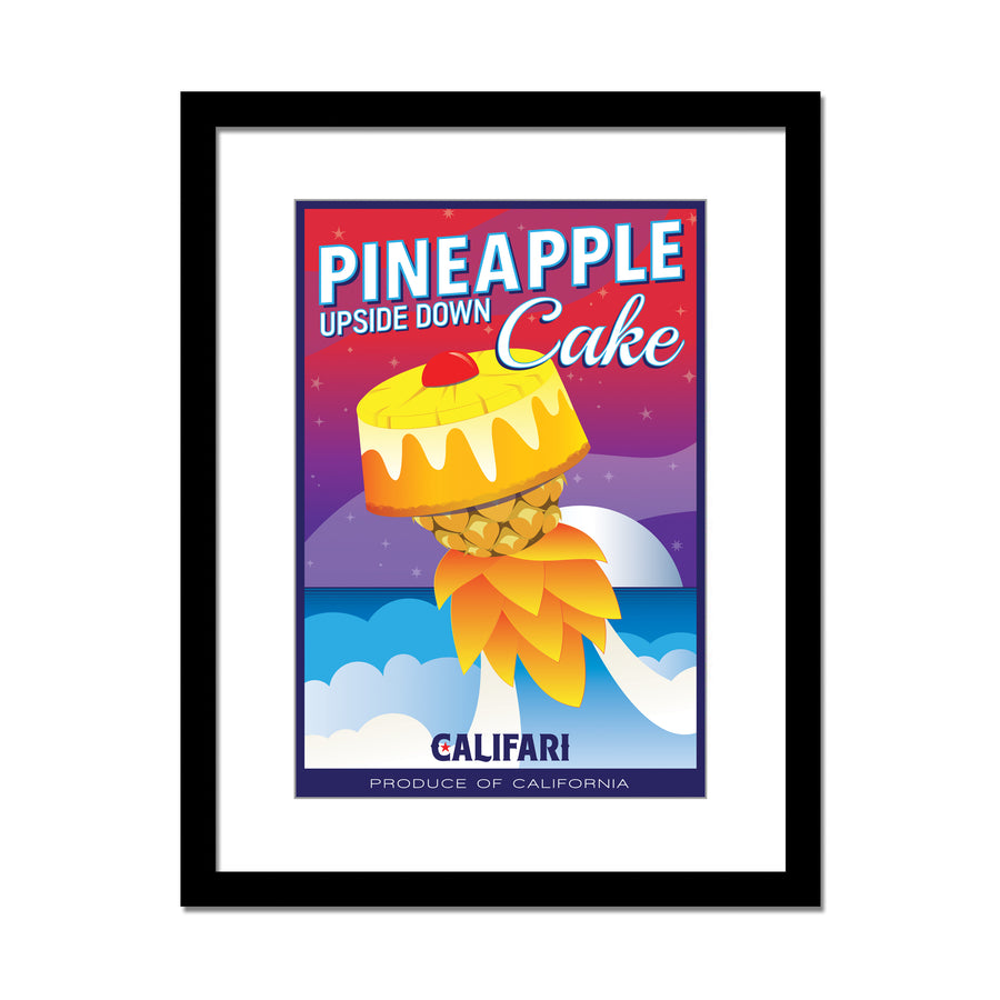 Pineapple Upside Down Cake 13 x 19 Lithograph Poster