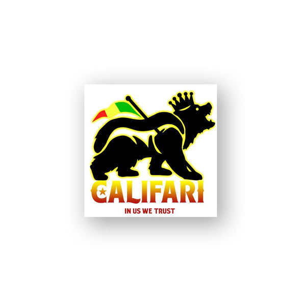 King Rasta Bear Sticker