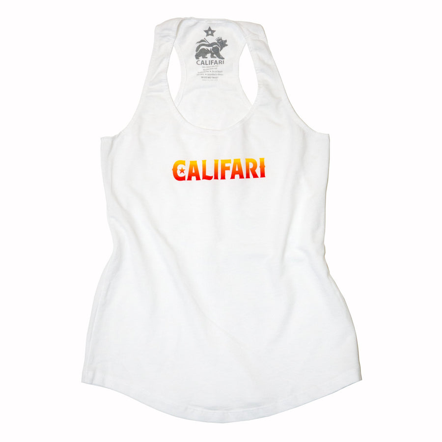White Califari Bottle Cap Tank