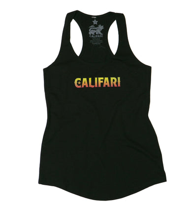 Black Califari Rasta Bear Tank
