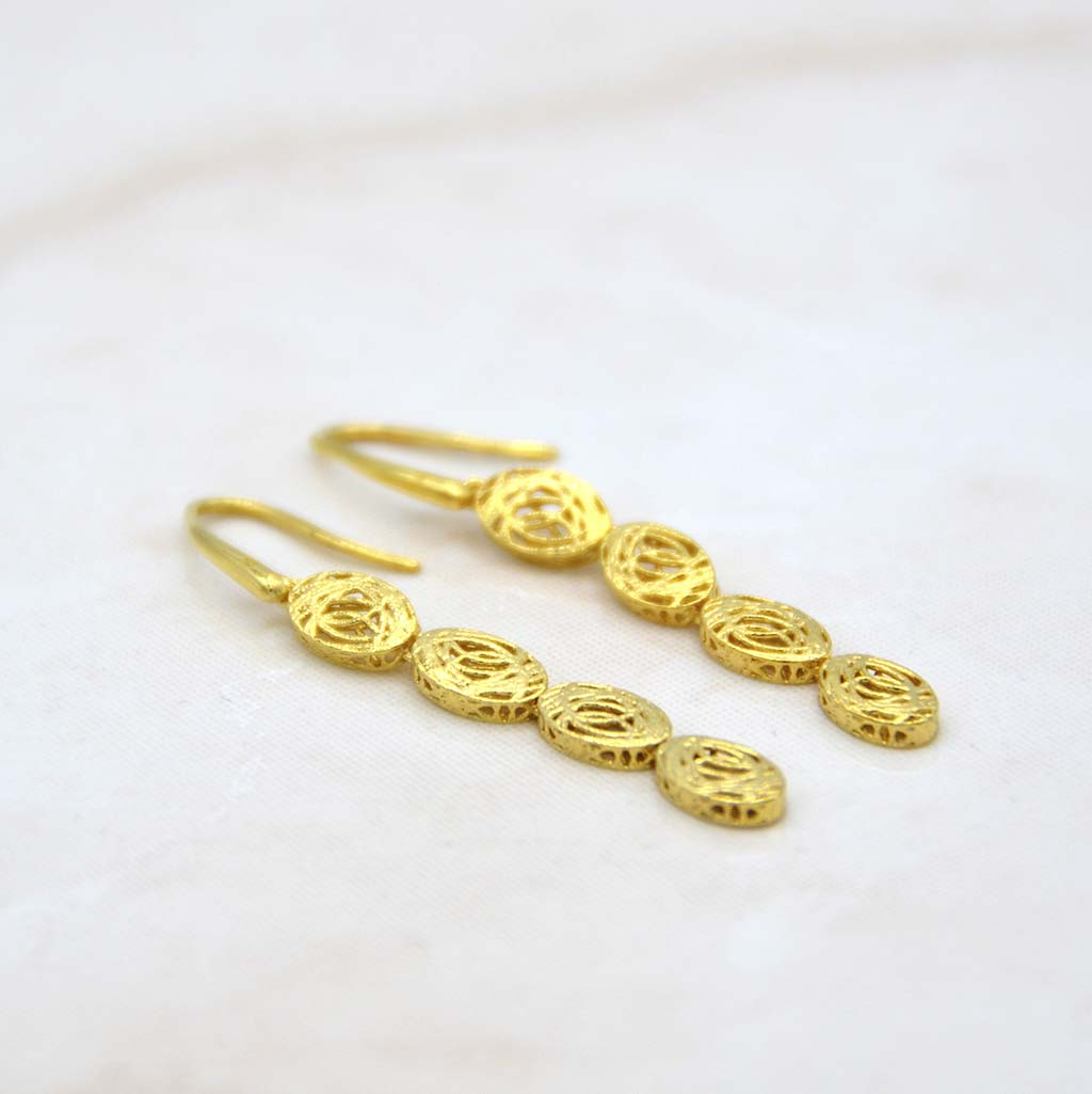 Alessandra Gold Earrings