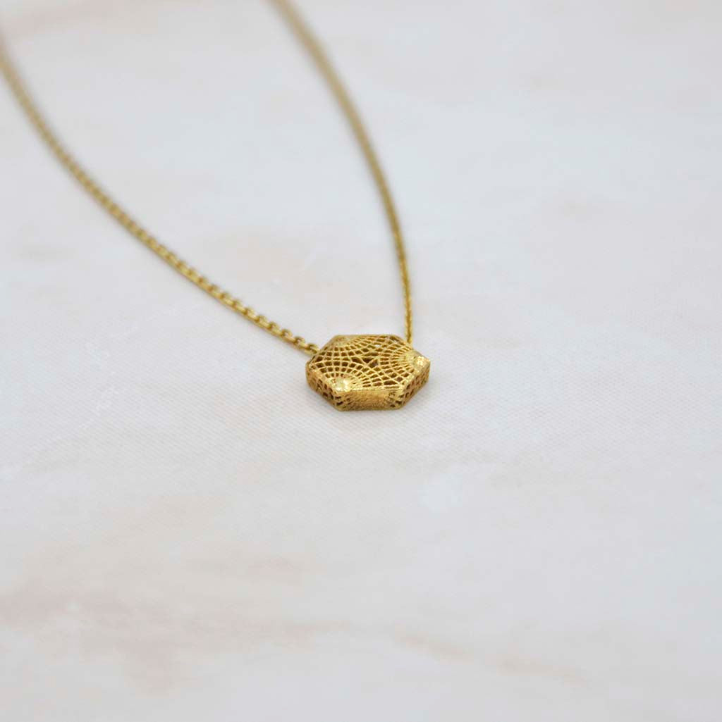 Gaudi Paseo de Gracia Gold Necklace
