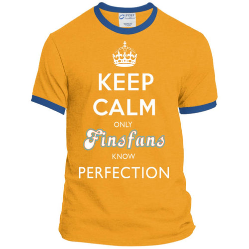 KEEP CALM only FINSFANS know PERFECTION - Ringer Tee (from $25)