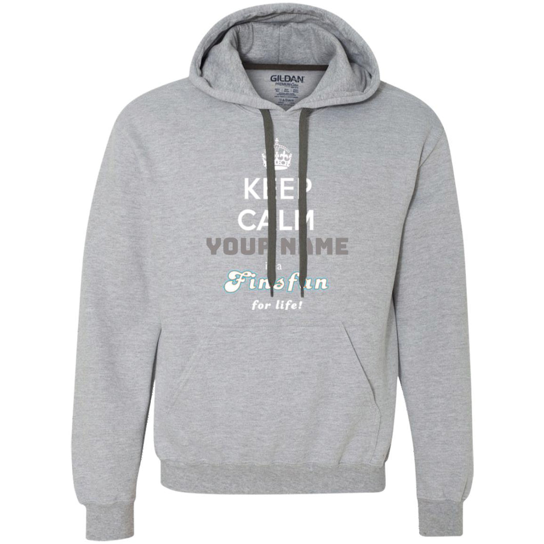 PERSONALISED FINSFAN FOR LIFE - Heavyweight Pullover Fleece Sweatshirt (from $45)