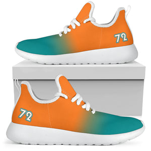 '72 Collection Sunburst Orange-2-Aqua Mesh Sneakers (M&F)