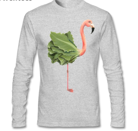 Vegan Flamingo Men's Long-Sleeve Tee