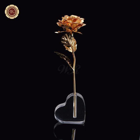 24K Gold Plated  Rose with Stand (24 varieties) - Pricedok