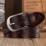 DINISITON Handcrafted USA Eagle Belt coffee/brown/black - Pricedok