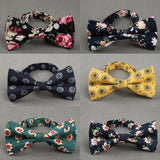 Floral Skinny Bow Tie For Men - Pricedok