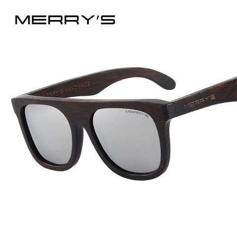MERRY'S Wood Polarized Sunglasses HAND MADE 100% UV Protection - Pricedok