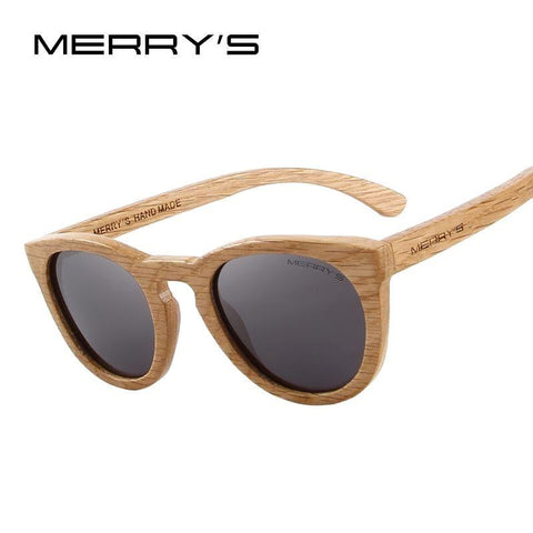 MERRY'S Wooden Sunglasses 100% UV Protection - Pricedok