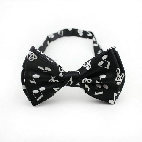 Music Patterned Bow tie for Men - Pricedok
