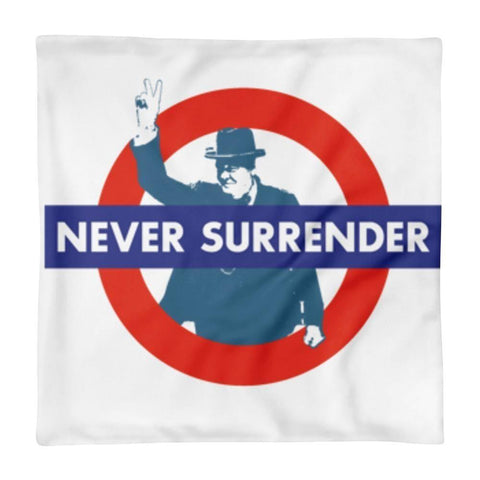 P+ NEVER SURRENDER Square Pillow Case only - Pricedok