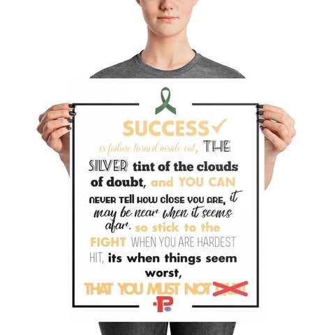 "P+ ""SUCCESS"" inspirational poster Photo paper poster - Pricedok"