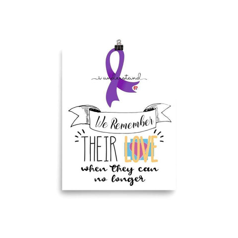 "P+ ""WE REMEMBER"" Alzheimer's Awareness Photo paper poster - Pricedok"
