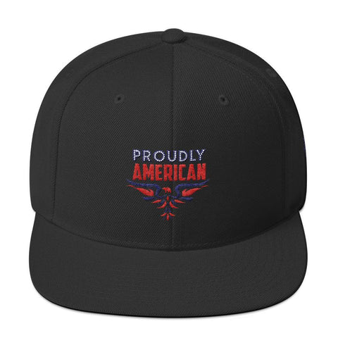 """PROUDLY AMERICAN"" Snapback Hat #2 - Pricedok"