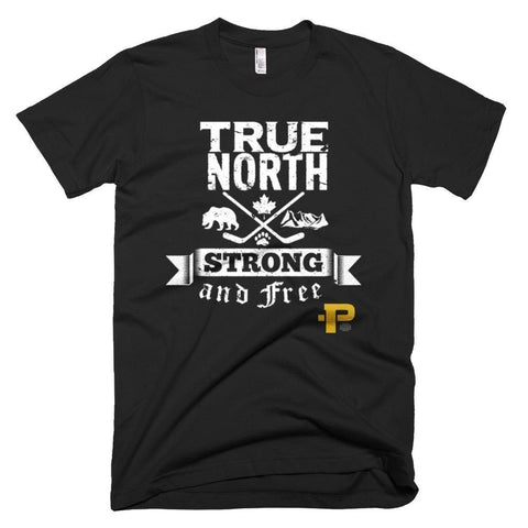 "PRICEDOK ""True North Strong and Free"" American Apparel Short-Sleeve T-Shirt - Pricedok"